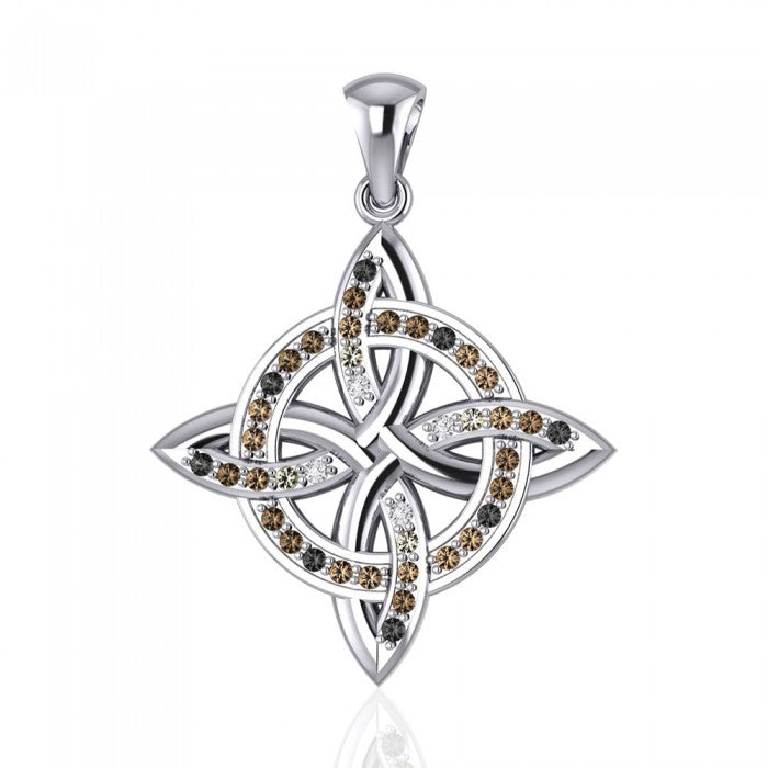 Celtic Four Point Knot Pendant TPD1808 peterstone.