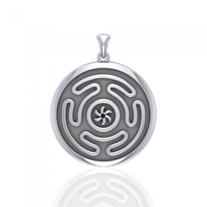 Hecate's Wheel Silver Pendant TPD1979 peterstone.