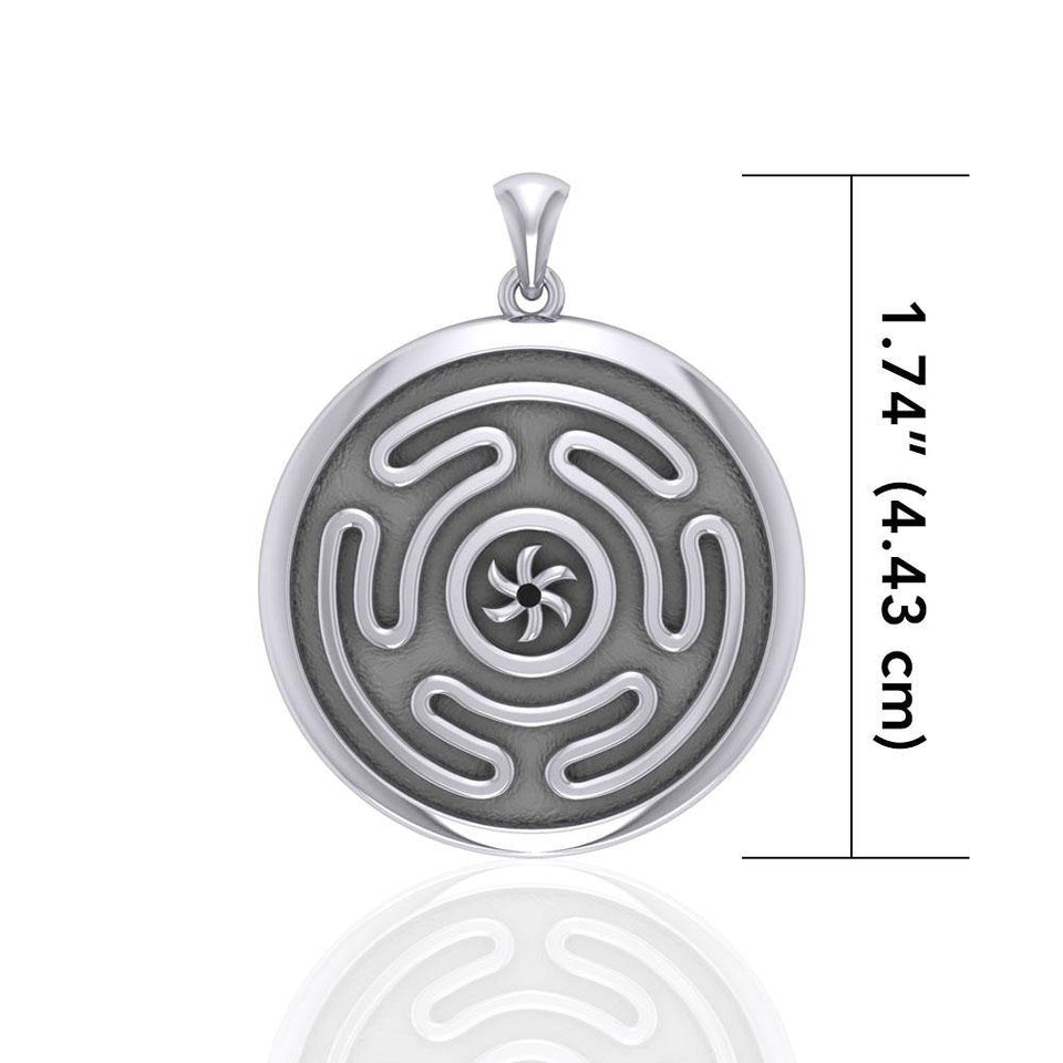 Hecate's Wheel Silver Pendant TPD1979