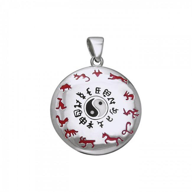 Chinese Astrology Yin Yang Silver Pendant TPD247