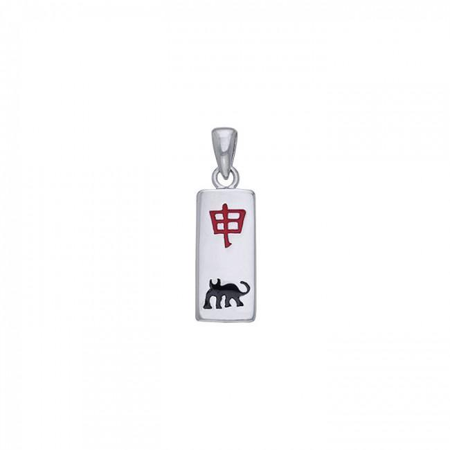 Chinese Astrology Monkey Silver Pendant TPD249