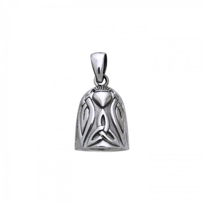 Celtic Knot Claddagh Bell Pendant TPD256