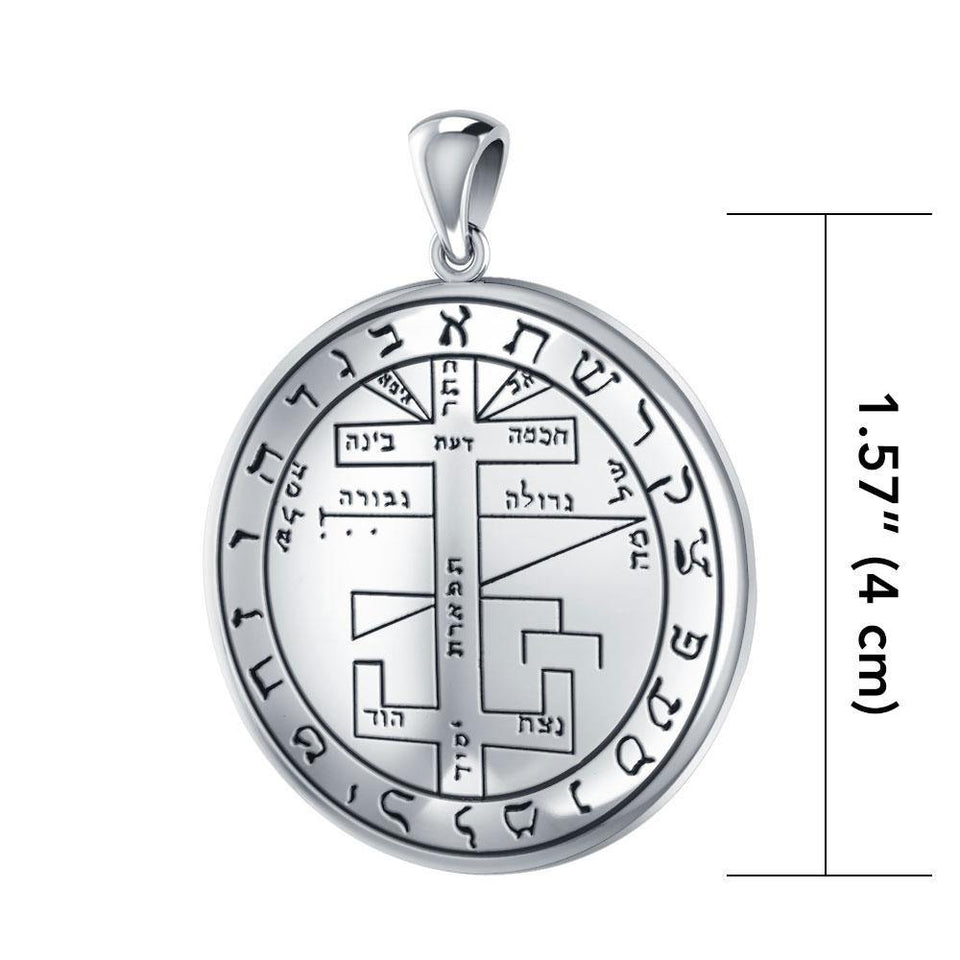 Silver Seal of Solomon Pendant TPD2837