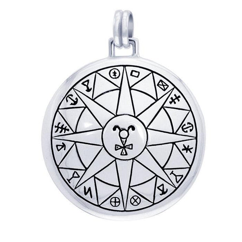 Safe Travels Solomon Seal Pendant TPD2861 peterstone.