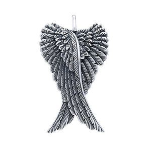 Angel Wings Silver Pendant TPD2933 peterstone.