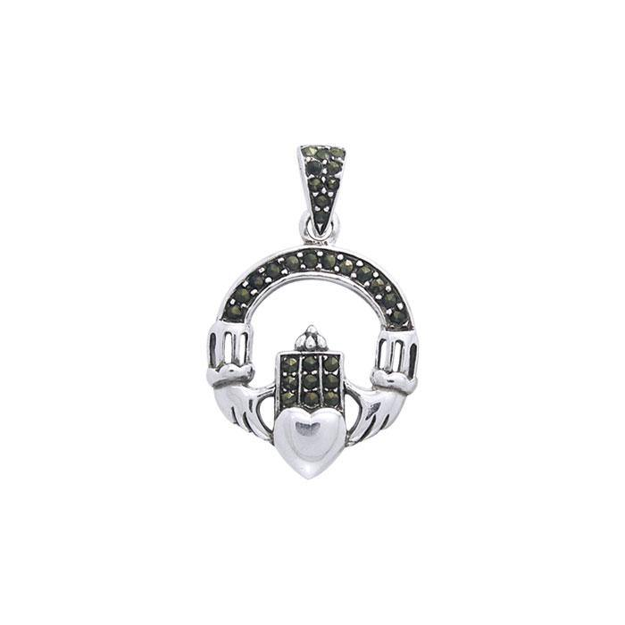 Celtic Claddagh Gemstone Pendant TPD3043 peterstone.