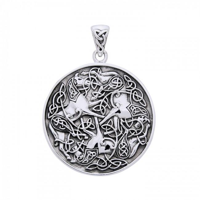 Celtic Knotwork Horse Pendant TPD3046 peterstone.