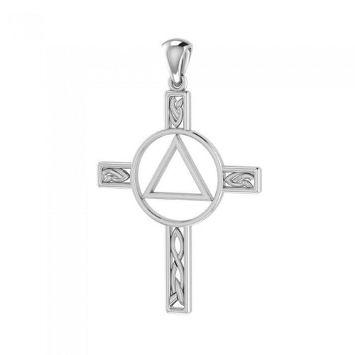 AA Recovery Celtic Knot Cross Pendant TPD327 peterstone.