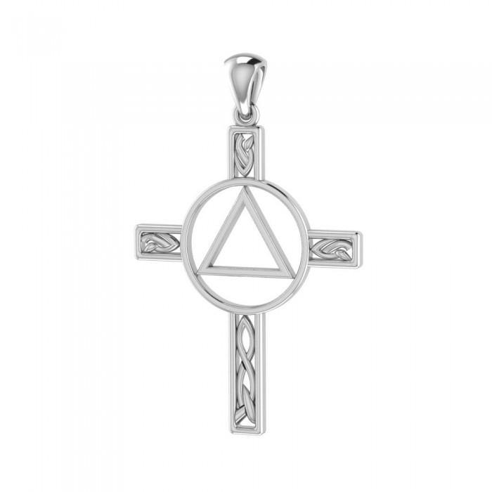 AA Recovery Celtic Knot Cross Pendant TPD327