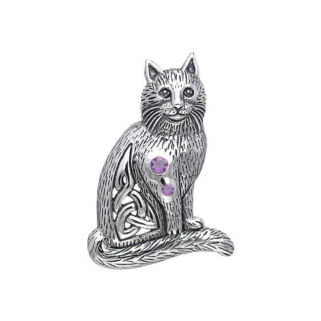 Celtic Cat Pendant TPD331 peterstone.