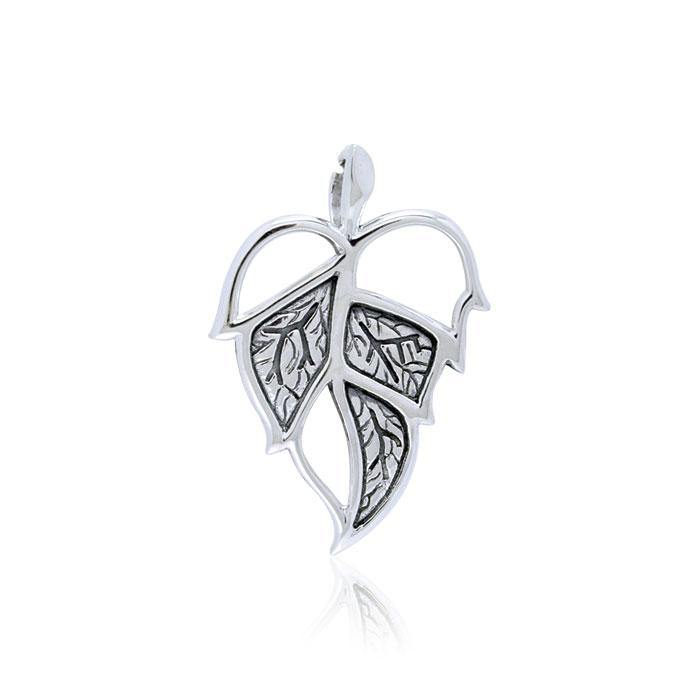 Leaf Sterling Silver Pendant TPD3333 peterstone.