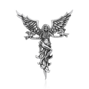Angel Dove Silver Pendant TPD3531 peterstone.