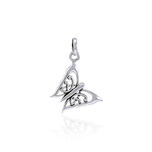 Butterfly Sterling Silver Pendant TPD3538