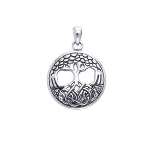 Find your solace in the Tree of Life ~ Sterling Silver Jewelry Pendant TPD3541 peterstone.
