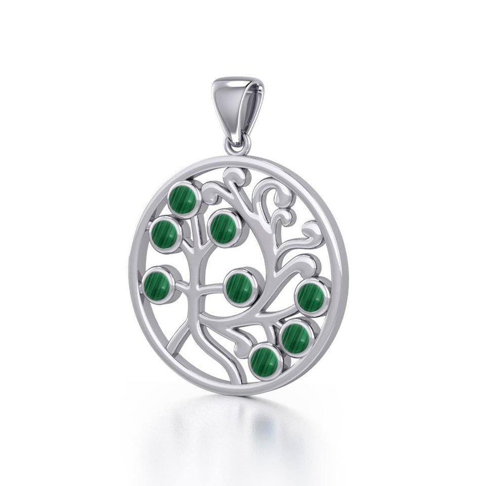 Nourished treasure in the Tree of Life ~ Sterling Silver Jewelry Pendant TPD3571 peterstone.