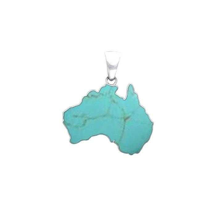 Australia Inlaid Gemstone Pendant TPD3579 peterstone.