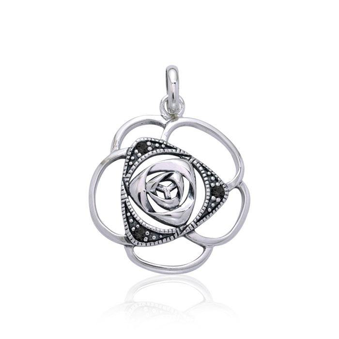 Blooming Rose Silver Pendant