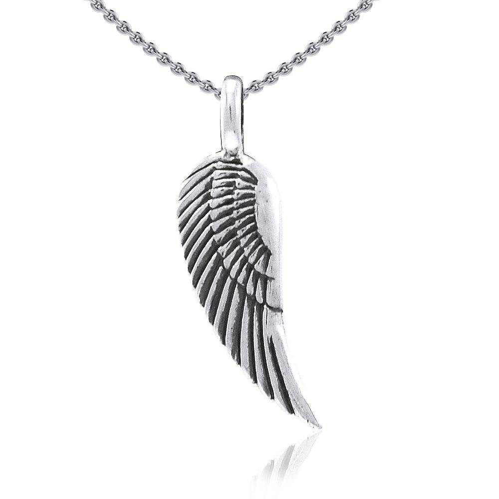 Angel Wing Silver Pendant TPD3646 peterstone.