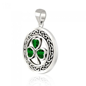 Sweet luck and happiness ~ Sterling Silver Jewelry Shamrock Pendant TPD3689 peterstone.