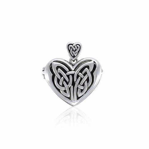 Eternal Heart Celtic Knot Silver Locket TPD3717