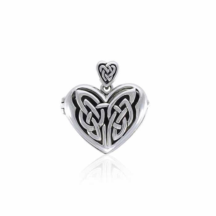 Eternal Heart Celtic Knot Silver Locket TPD3717 peterstone.