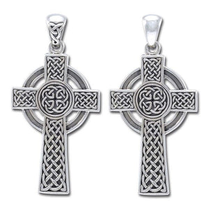 Large Reversible Celtic Cross Pendant TPD3726 peterstone.