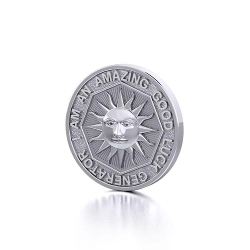 I am an Amazing Good Luck Generator Silver Small Empower Coin TPD3727 peterstone.