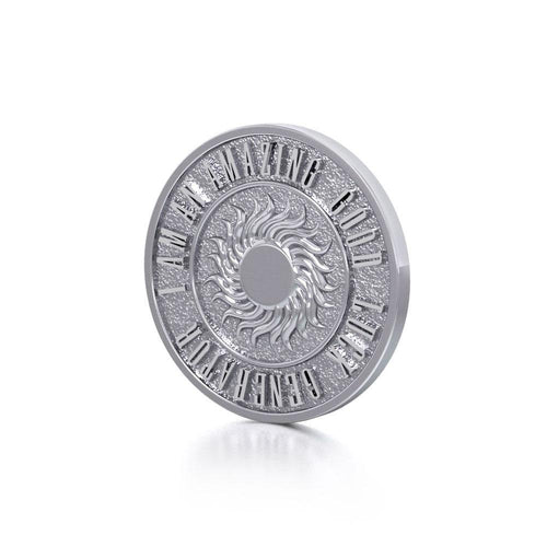 Wonderful I am an Amazing Good Luck Generator Silver Small Empower Coin TPD3729 peterstone.