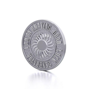 Powerful I am an Amazing Good Luck Generator Silver Small Empower Coin TPD3730 peterstone.