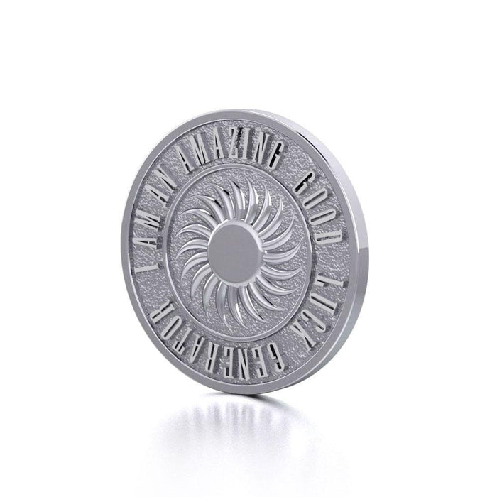 Powerful I am an Amazing Good Luck Generator Silver Small Empower Coin TPD3730