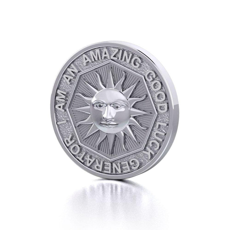 I am an Amazing Good Luck Generator Silver Large Empower Coin TPD3731