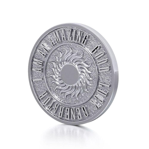 Wonderful I am an Amazing Good Luck Generator Silver Large Empower Coin TPD3733 peterstone.