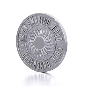 Powerful I am an Amazing Good Luck Generator Silver Large Empower Coin TPD3734 peterstone.