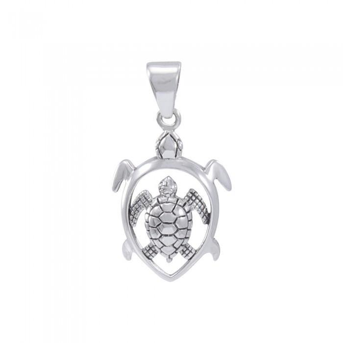 Loffwehead Turtle Sterling Silver Pendant TPD3942