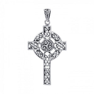 Celtic Cross Sterling Silver Pendant TPD3969 peterstone.