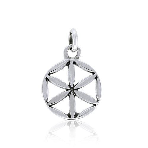 Small Mandala Flower of Life Silver Pendant TPD3980