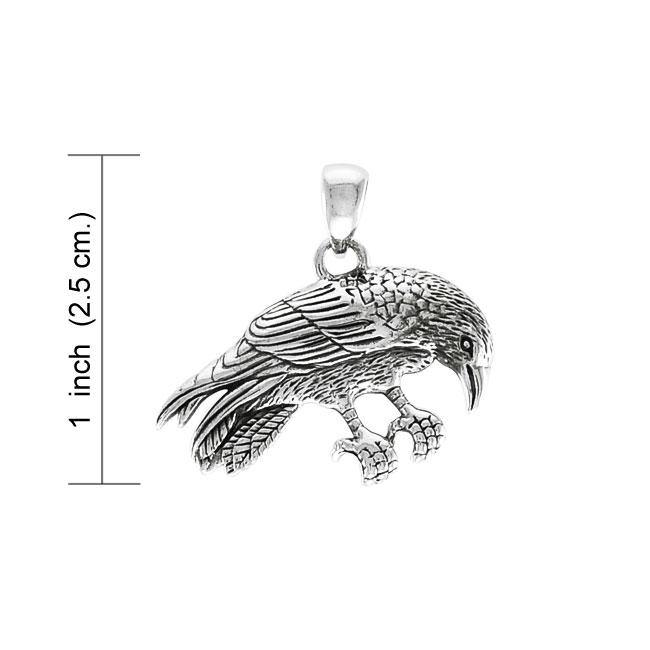 Ted Andrews Crow Silver Pendant TPD3987