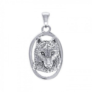 Ted Andrews Wolf Pendant TPD3989 peterstone.