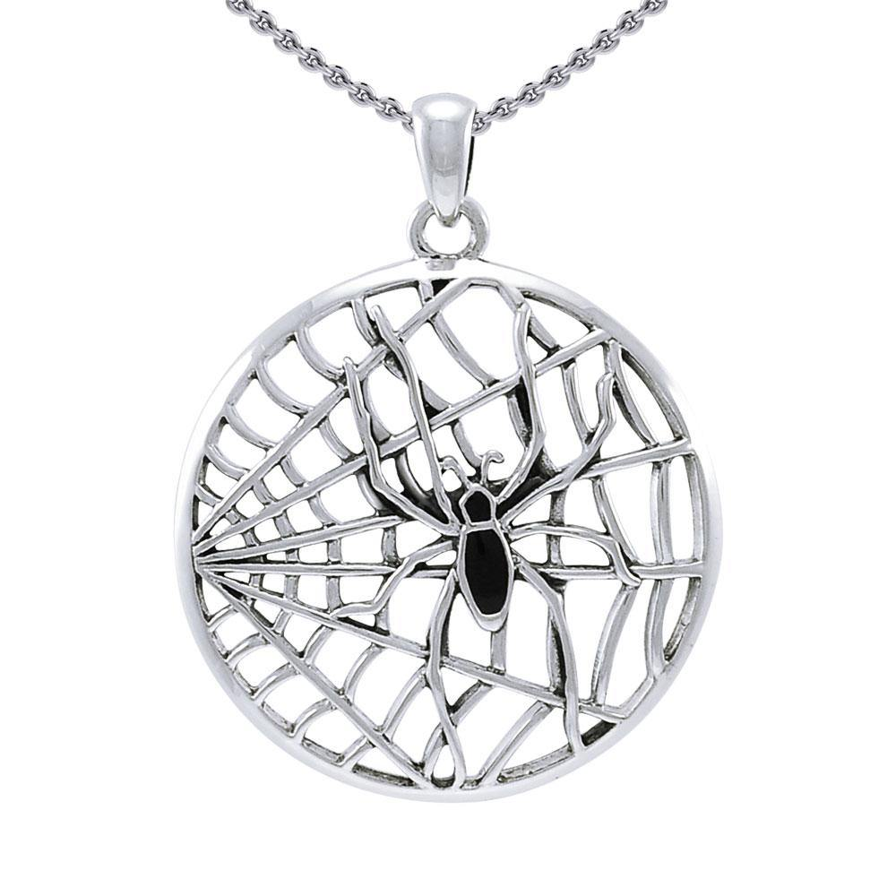 Ted Andrews Spiderweb Sterling Silver Pendant TPD3992