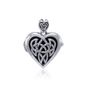 Celtic Heart Aroma Locket Pendant TPD4129