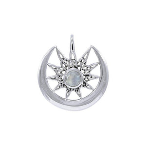 Star on Crescent Moon Pendant TPD4233 peterstone.