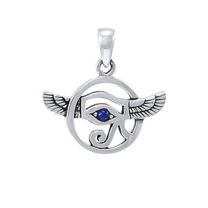 Look into the Eye of Horus ~ Sterling Silver Jewelry Pendant TPD4252 peterstone.