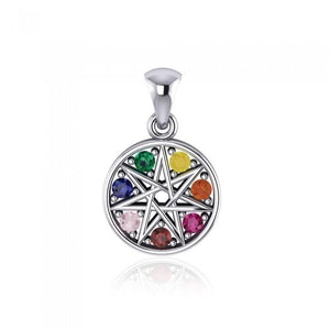 Elven Star Sterling Silver Pendant TPD4262 peterstone.