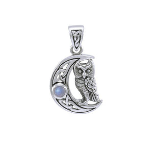Celtic Owl Moon Pendant TPD4288 peterstone.