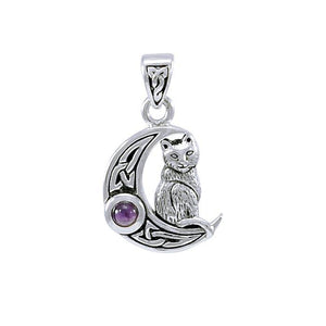 Celtic Moon Cat Pendant TPD4289