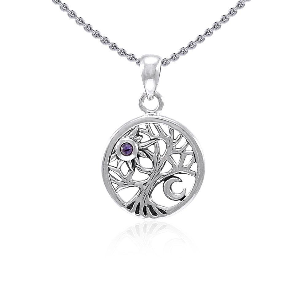 A beautiful surprise in the Tree of Life ~ Sterling Silver Jewelry Pendant TPD4292