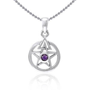 Centered energy in a The Star ~ Sterling Silver Jewelry Pendant TPD4296 peterstone.