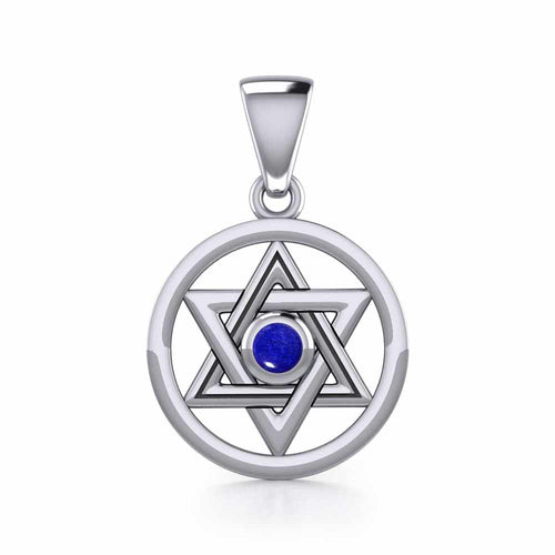 Star of David Sterling Silver Pendant TPD4297 peterstone.