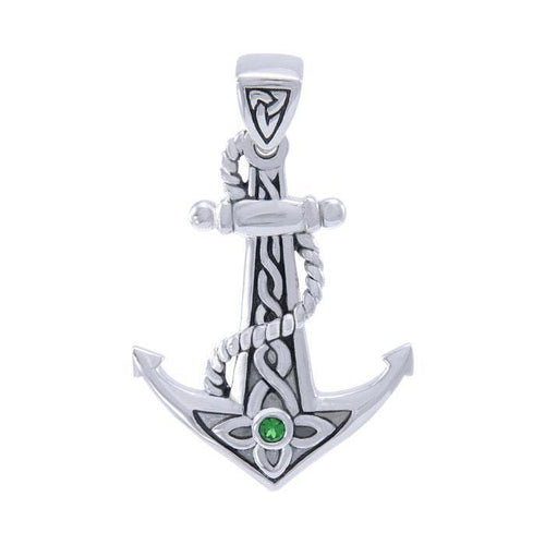 Celtic Anchor Gemstone Pendant TPD4366 peterstone.