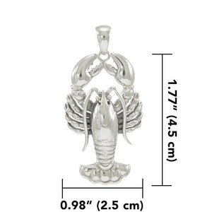 Lobster Sterling Silver Pendant TPD4381 Pendant